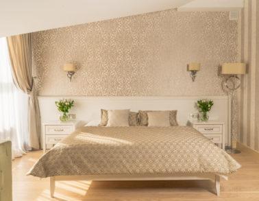 Номер №2 De Luxe кровать гостиница (отель) Теплица Парк